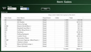 Item Sales retail 1